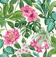 Fine Décor FD42474 Uk Tropica Rainforest Pink