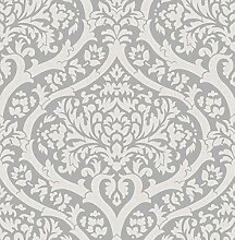 Fine Décor FD42529 Sandringham Damask Silver