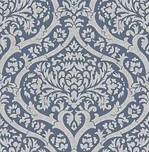 Fine Décor FD42531 Sandringham Damask Blue