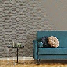 Fine Décor FD42604 Shard Trellis Grey/Rose Tapete