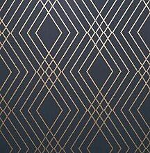 Fine Décor FD42605 Shard Spalier marineblau/gold