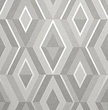 Fine Décor FD42606 Shard Geo Stone/Silver Tapete