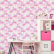 Fine Décor Flamingo-Tapete, Vögel, tropische,