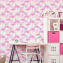 Fine Décor Flamingo-Tapete, Vögel, tropische,