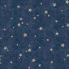 Fine Décor M1490 Starlight Stars Navy Tapete, blau