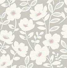 Fine Décor uw24772Scandi Flower Seitenwand, Pink