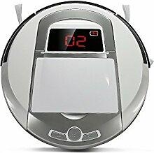 Fine Dragon Intelligenter Roboter-Staubsauger Reinigungsroboter Bodenreiniger Saugroboter Kehrmaschine mit Sensor inkl. HEPA Filter und Ecke Bürste,Weiß (Type A)