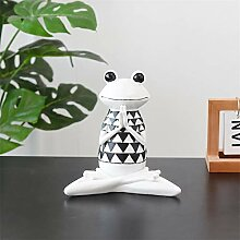 Fine-X Kreative Yoga Frosch statuen Hause