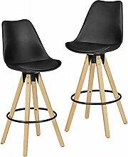FineBuy 2er Set Barhocker Retro Design Kunst-Leder