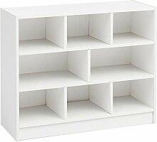 FineBuy Bücherregal FB14533 Weiß 80x68,5x29,5 cm