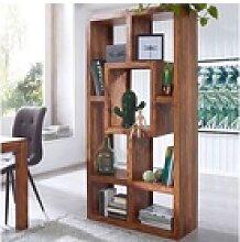 FINEBUY Bücherregal FB37152, Massiv-Holz Sheesham