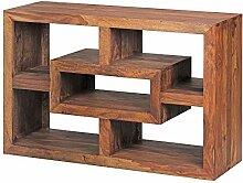 FineBuy Bücherregal Massiv-Holz Sheesham 105 x 70
