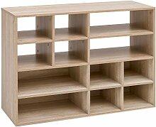 FineBuy Bücherregal mit 12 Fächern 97 x 72 x 35