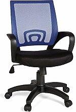 FineBuy Bürostuhl OLEG Blau Schreibtischstuhl