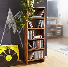 FineBuy CD Regal Massivholz Standregal 90 cm