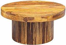 FineBuy Couchtisch 60x30x60 cm Sheesham Massivholz