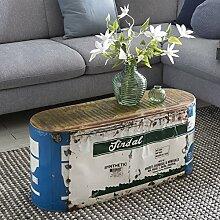 FineBuy Couchtisch Indira 84x37x29cm Metall/Holz