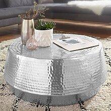 FineBuy Couchtisch MARESH 74x32x74 cm Aluminium