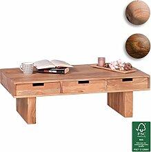 FineBuy Couchtisch Massivholz Design
