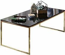 FineBuy Couchtisch RAVI 120x45x60 cm Metall Holz