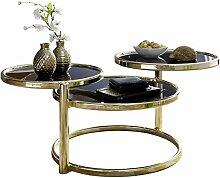 FineBuy Couchtisch SINA mit 3 Tischplatten
