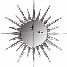 FineBuy Deko Design Wandspiegel Sonne Ø 76 cm aus
