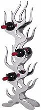 FineBuy Design Aluminium Weinregal Flame für 9