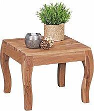 FineBuy Design Beistelltisch Holz Massiv Akazie