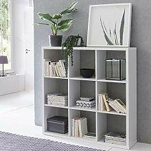 FineBuy Design Bücherregal Eddy mit 9 Fächern