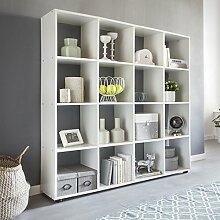 FineBuy Design Bücherregal SARA mit 16 Fächern