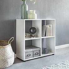 FineBuy Design Bücherregal SARA mit 4 Fächern