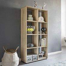 FineBuy Design Bücherregal SARA mit 8 Fächern