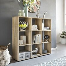 FineBuy Design Bücherregal SARA mit 9 Fächern