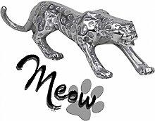 FineBuy Design Deko Figur Panther 60 x 14 x 14 cm