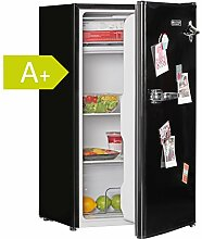 FineBuy Design Retro Minikühlschrank 95L A+ mit Gefrierfach Türanschlag wechselbar | Kühlschrank freistehend mit Stufenloser Temperatureinstellung | Party-Kühlschrank mit Flaschenöffner