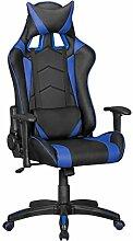 FineBuy GOAL - Gaming Chair mit Kunstleder | Schreibtisch-Stuhl in Leder-Optik | Design Racing Chefsessel mit Armlehne | Gamer Bürostuhl mit Racer Sport-Sitz und Kopfstütze | Drehstuhl in Race-Optik