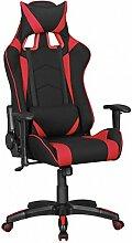 FineBuy GOAL - Gaming Chair mit Stoffbezug   Schreibtisch-Stuhl aus Stoff   Design Racing Chefsessel mit Armlehne   Gamer Bürostuhl mit Racer Sport-Sitz und Kopfstütze   Drehstuhl in Race-Optik