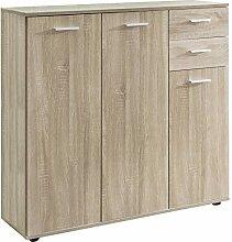 FineBuy Highboard FB11847 mit Türen & Schubladen