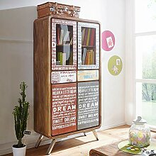 FineBuy Highboard KAIA Sheesham Massivholz