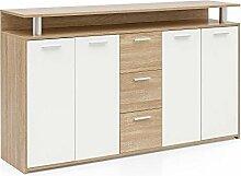 FineBuy Highboard mit 4 Türen & 3 Schubladen in