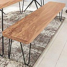 FineBuy Massive Sitzbank 180 x 40 cm Harlem Akazie
