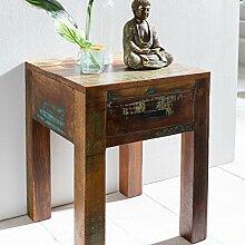 FineBuy Nachttisch DELHI 40 x 40 x 55cm Shabby