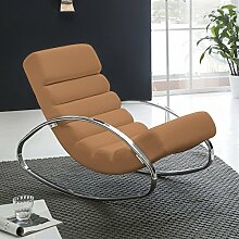 FineBuy Relaxliege Braun Kunstleder Sessel