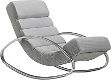 FineBuy Relaxliege Grau/Silber 110 kg Belastbar