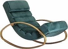 FineBuy Relaxliege Samt Grün/Gold 110 kg