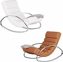 FineBuy Relaxliege Sessel Fernsehsessel Farbe weiß Relaxsessel Design Schaukelstuhl Wippstuhl modern