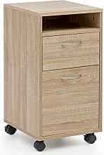 FineBuy Rollcontainer FB14689 Sonoma 33x63x38 cm