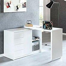 Finebuy Schreibtisch Nomi 166 x 42 x 77 cm groß
