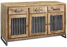 FineBuy Sideboard 145x83x45 cm Massivholz 3