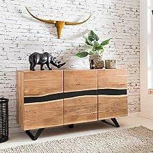 FineBuy Sideboard 148 x 85 x 43 cm Massiv-Holz